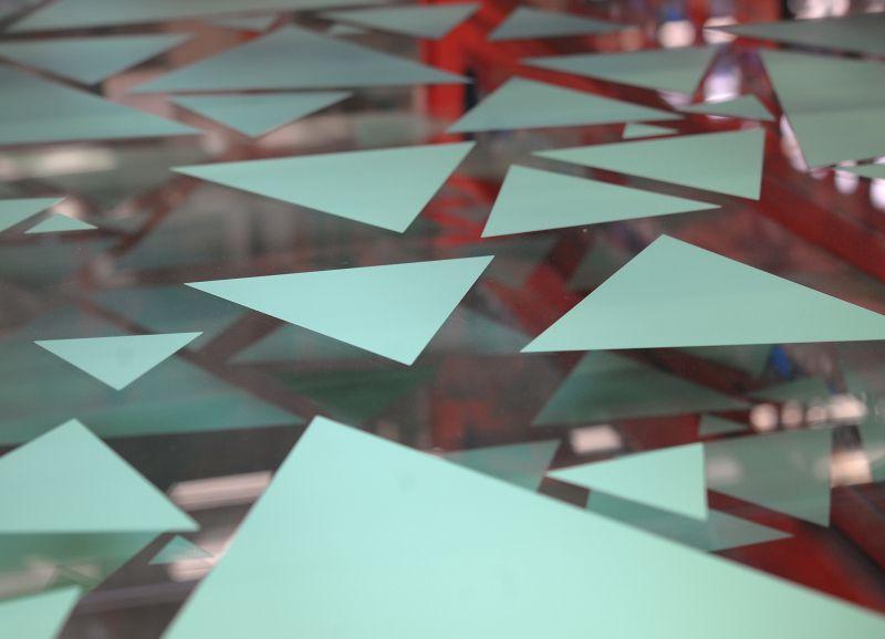 Muster-Siebdruck auf Glas